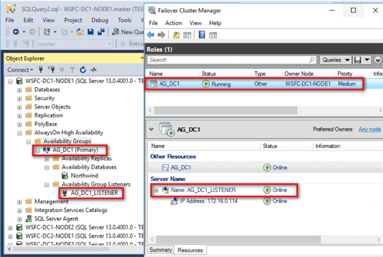 Failover Cluster Manager Online Status