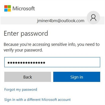 Azure SQL DW & PolyBase - Password - Description: This screen asks for a valid password.