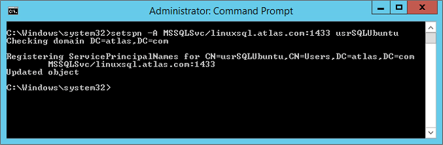 Configure SQL Server on Linux to Use Windows Authentication