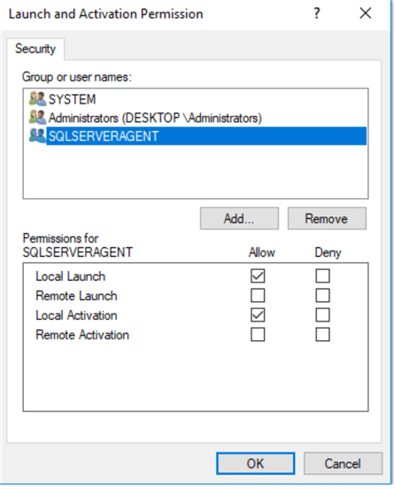 Launch and Activation Permission in Component Services