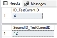 SELECT IDENT_CURRENT for two SQL Server tables after additional inserts