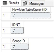 Compare three Identity functions in SQL Server