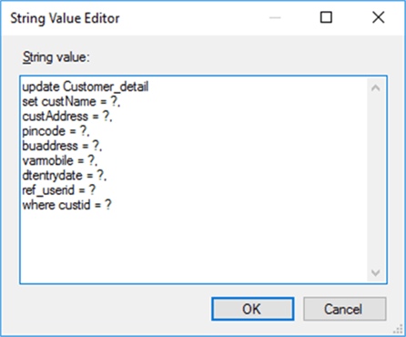 updataing data - Description: Conditional base 