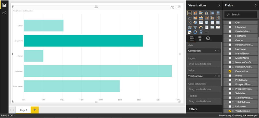 Stacked bar chart in Power BI
