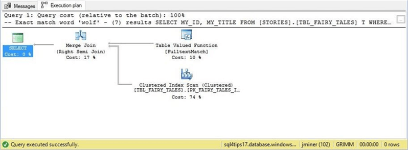 SSMS - FullText Predicate - Description: This new predicate creates an improved query plan.