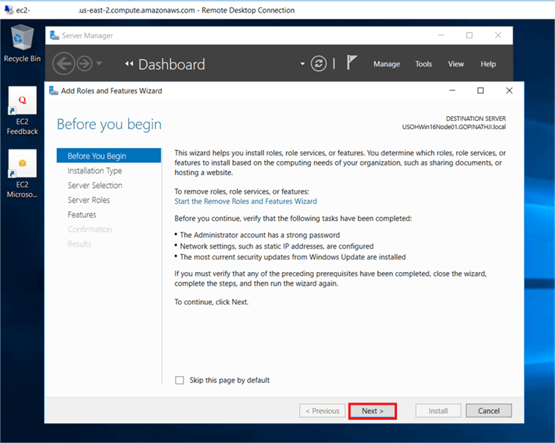 Now let's install .Net Framework 3.5 features and failover clustering features. - Description: Now let's install .Net Framework 3.5 features and failover clustering features.