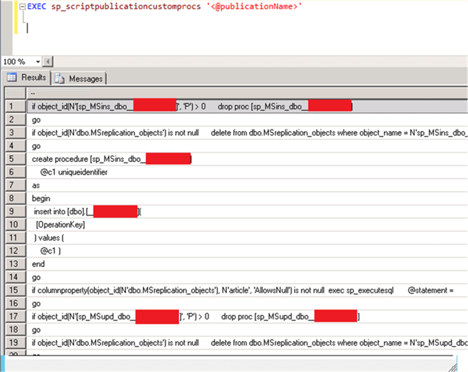 Script to Generate Missing SQL Server Replication Stored Procedure