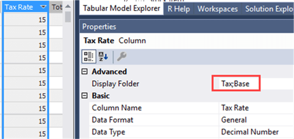 Multiple display folders in Analysis Services Tabular 2016