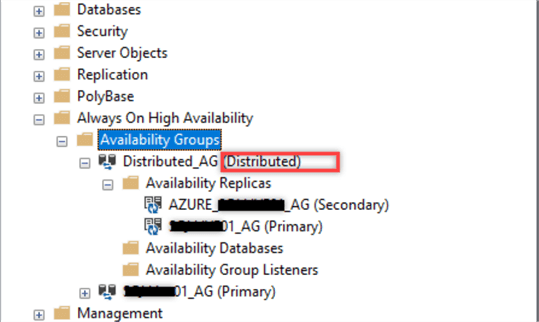 Distributed AG in SSMS