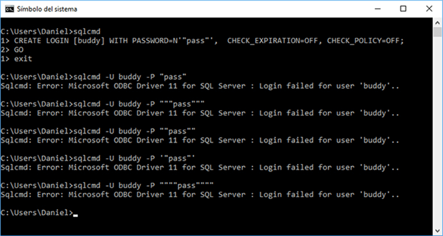 Login Attempts - Description: On this screen capture you can see my unsuccessful login attempts.