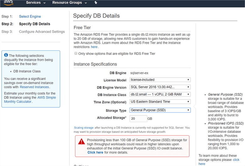 On the Select Engine dialog box, select license model, DB engine version, DB instance class. - Description: On the Select Engine dialog box, select license model, DB engine version, DB instance class.