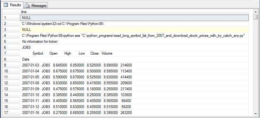 Importing Historical Stock Prices from Yahoo Finance into