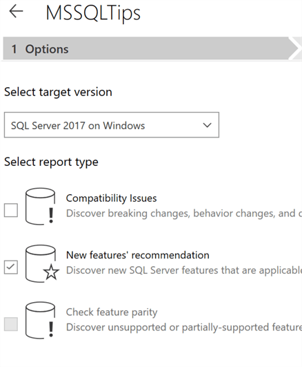 New Features' Recommendation in SQL Server