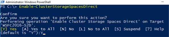 enable cluster storage