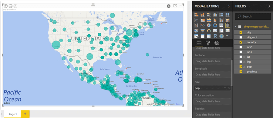 Power BI Desktop Drill Down into data for the USA