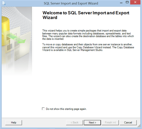 Import Data in SQL Server Management Studio