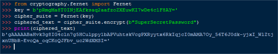 cryptography fernet