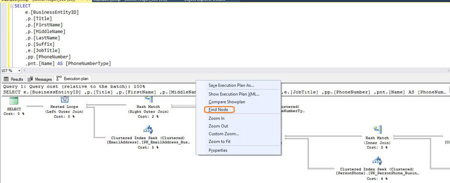 SQL Server v17.x Management Studio showplan node option