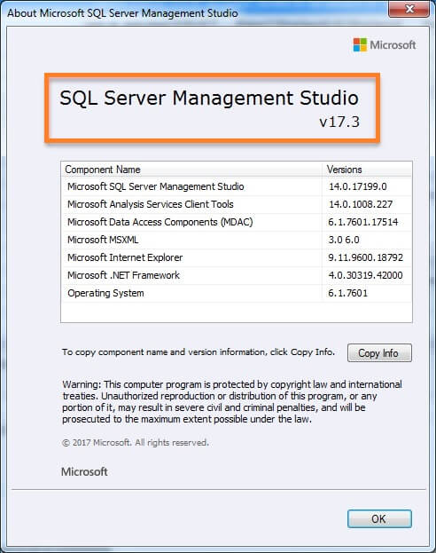 SQL Server Management Studio Import Data Wizard