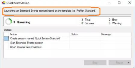 Quick Start Session - SSMS v17.3 Xevent Profiler