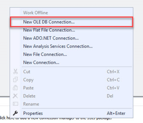 ssis new old db connection