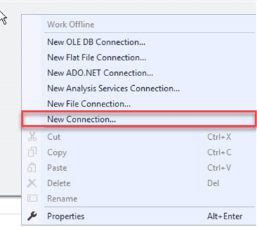 ssis new connection