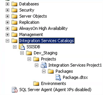 SSIS Catalog With Project - Description: SSIS Catalog With Project