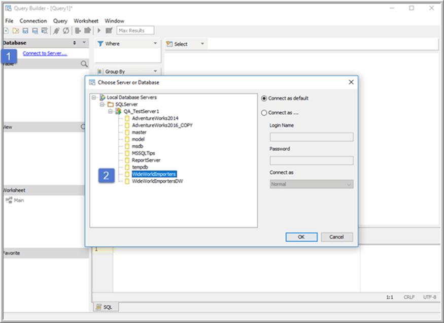Visual Query Builder - Description: Visual Query Builder Start