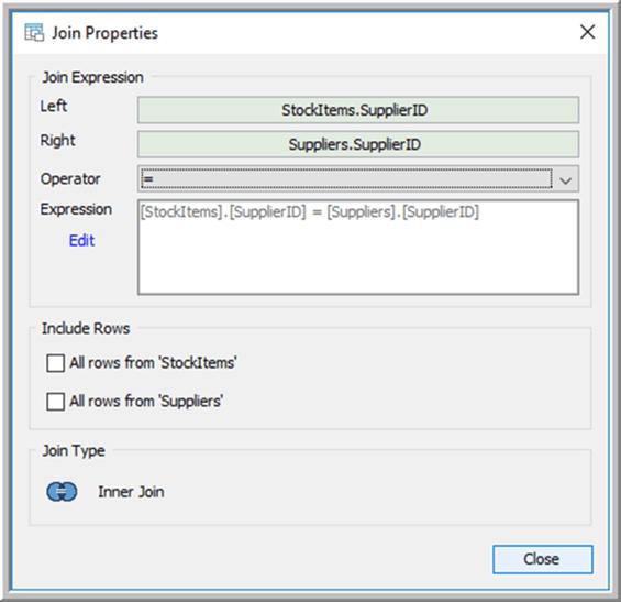 Join - Description: Join Window