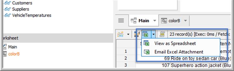 View in Spreadsheet - Description: View in Spreadsheet