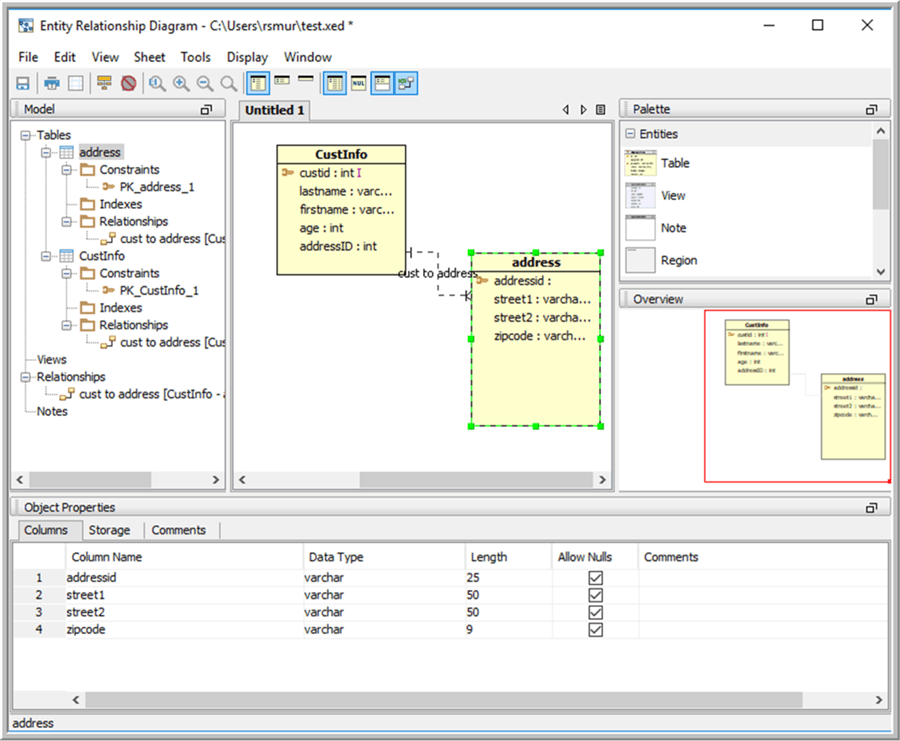 Add Tables to ERD - Description: Add Tables to ERD
