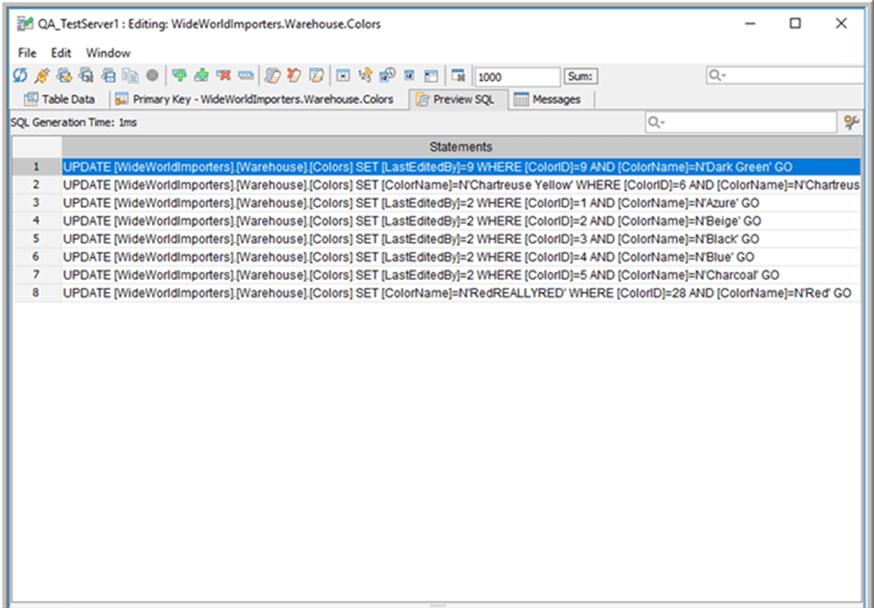 Preview SQL Tab - Description: Preview SQL Tab