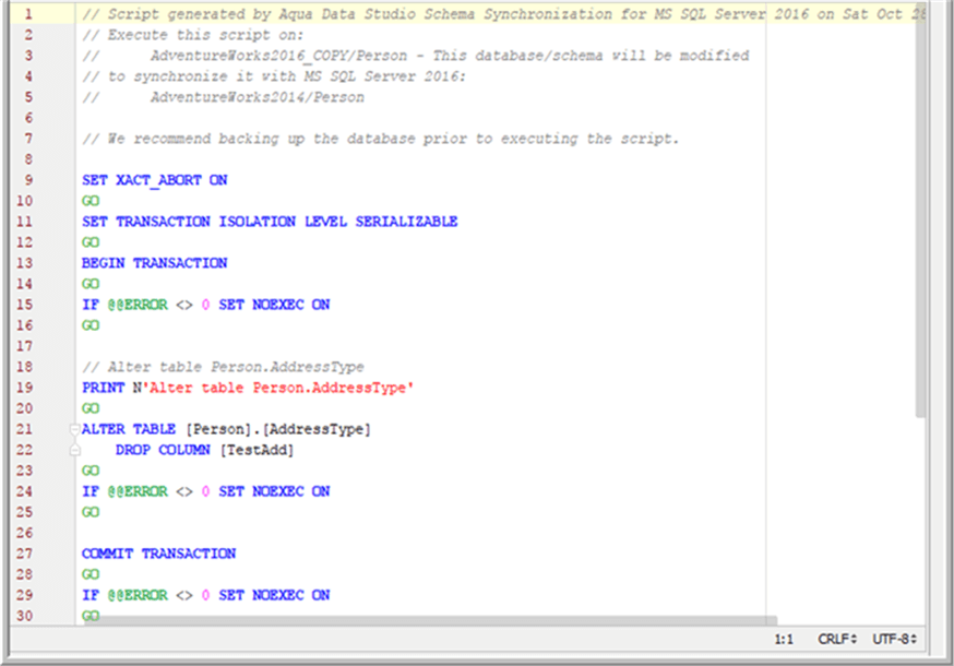 sync script - Description: sync script