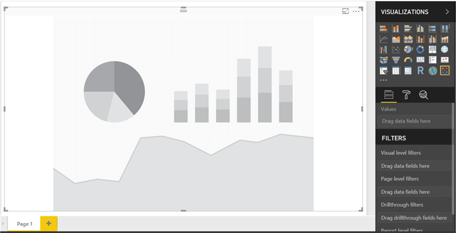 Add visual to the Power BI Desktop interface - Description: Add visual