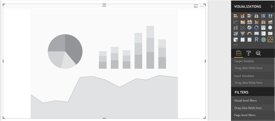 Report interface in Power BI Desktop - Description: Report