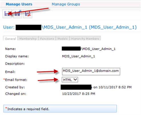 Setting email in user property in MDS