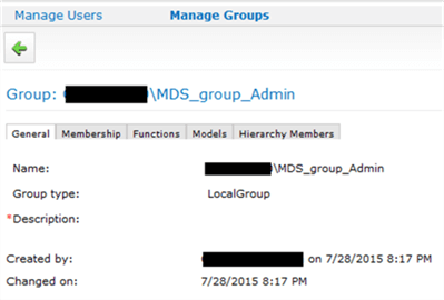 MDS Group management