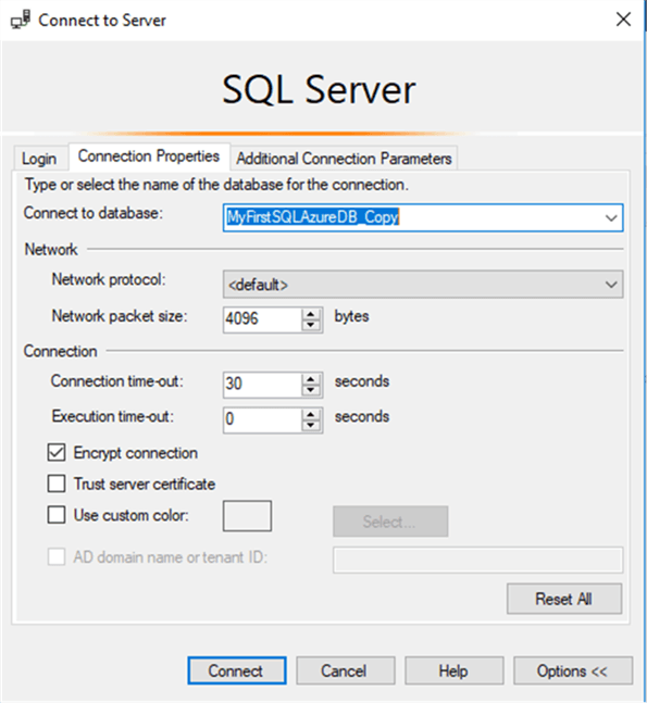 Different Ways to Connect to SQL Azure databases