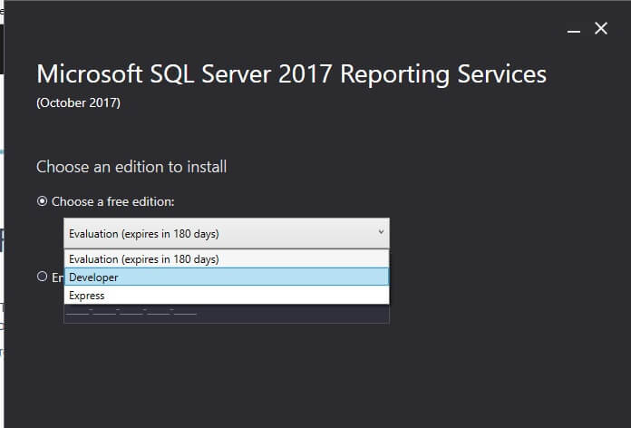 SQL Server Reporting Services choose an edition