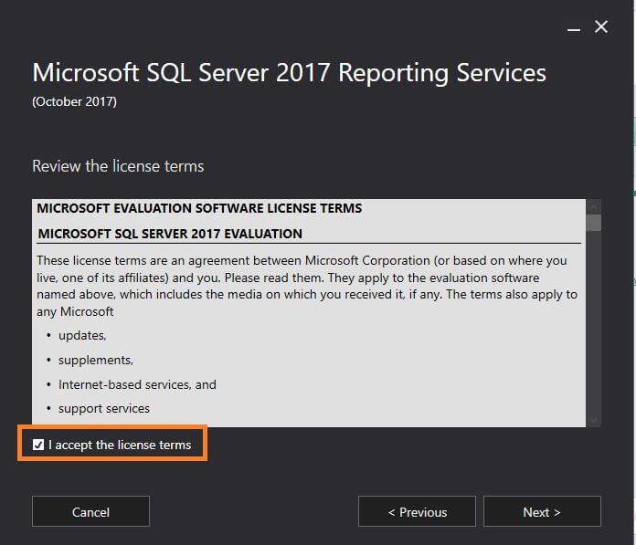 SQL Server Reporting Services Product key