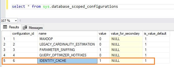 SQL Server 2017 Database Scoped Operation