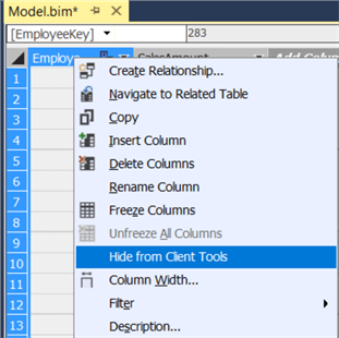 hide from client tools