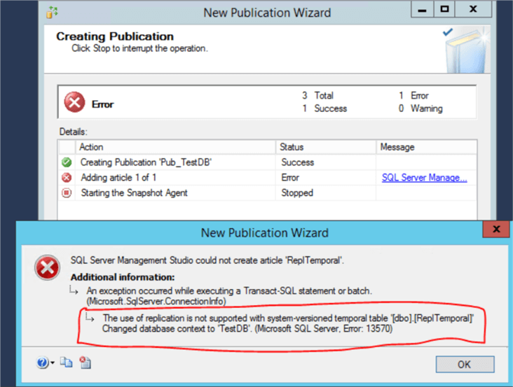 new publication wizard