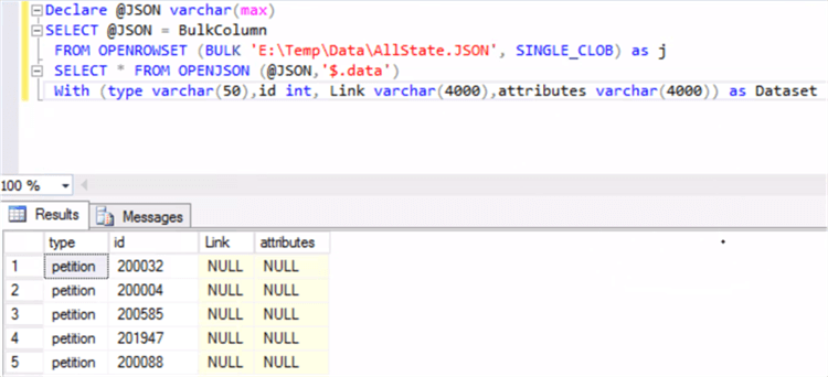 Different Ways to Import JSON Files into SQL Server