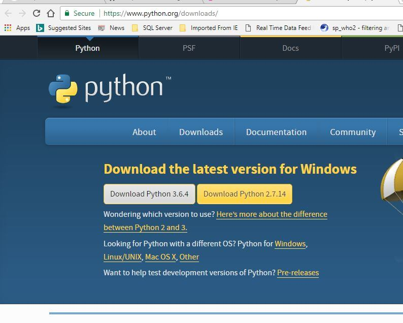Python Installable software