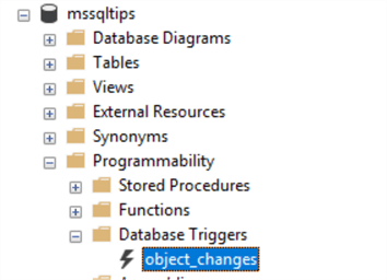 object changes