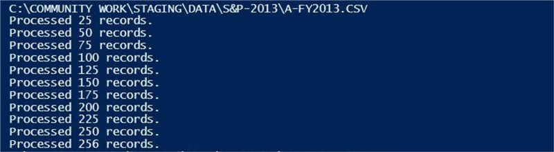 PowerShell Program - Description: Console output from the custom PS program.