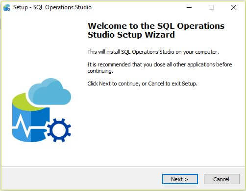 SQL Operations Studio Installation