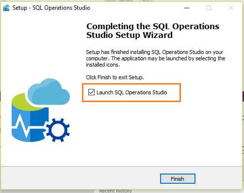 Microsoft SQL Operations Studio launch