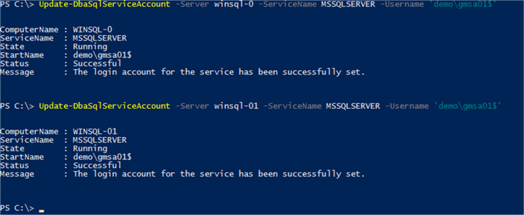 Setting Service Accounts with DBATools
